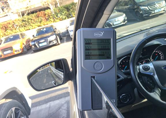 LS163隔热膜检测仪测汽车侧挡