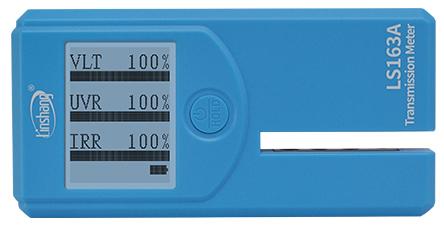 LS163A太阳膜测试仪通过自校准显示界面