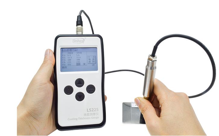 LS225+F500涂镀层测厚仪校准过程