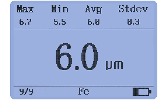 LS225+F500涂镀层测厚仪数据统计功能