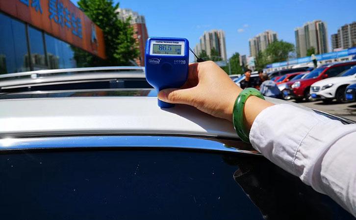 漆膜仪测量汽车