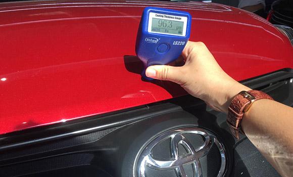 LS220漆膜仪测汽车