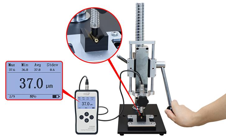 LS225+N1500涂层测厚仪测异型或者小尺寸材料