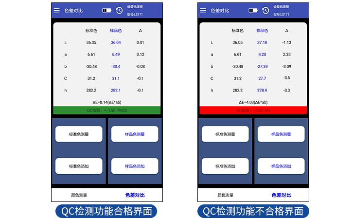 色度计QC检测功能